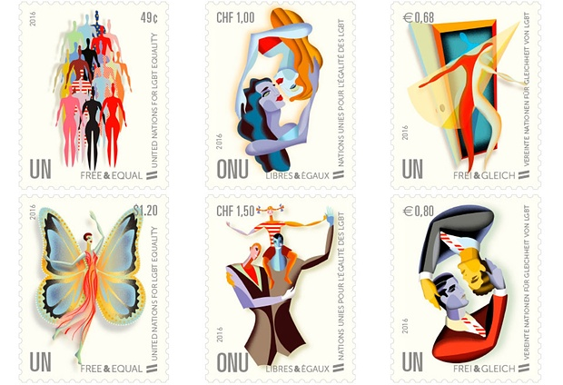 UN Stamps for LGBT Equality