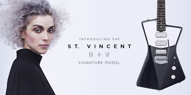 St Vincent signature model guitar