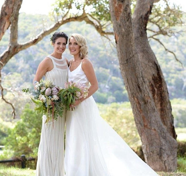 Ashleigh Brazill weds girlfriend