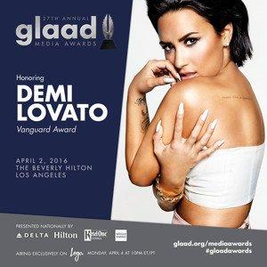 Demi Lovato GLAAD Awards