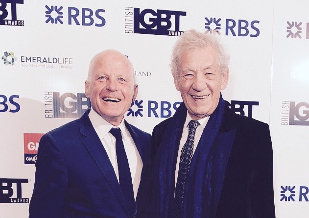 Ian McKellen British LGBT Awards