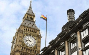 Rainbow flag flies over Parliament for the first time