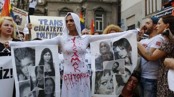 Turkey transgender protest