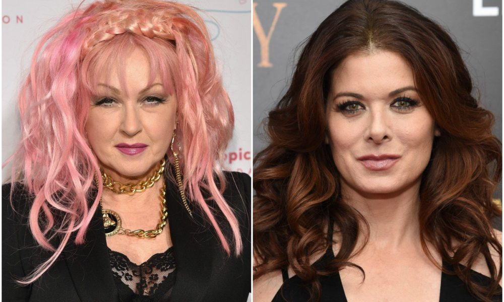 Cyndi Lauper and Debra messing