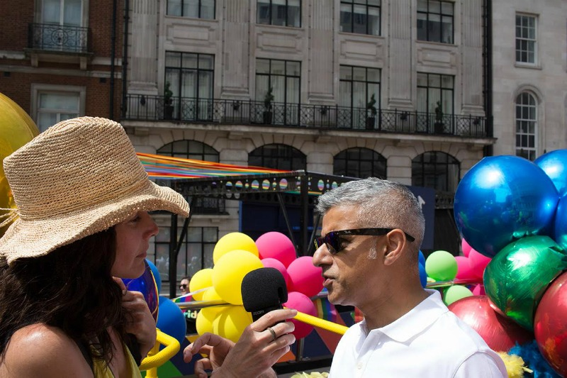 Rachel Shelley Sadiq Khan Pride in London