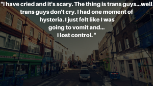 """Transphobic attack: """"I lay in a ball to protect my body and then played dead."""""""