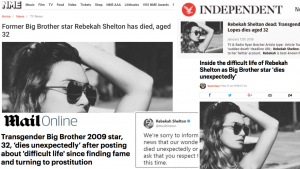 """I'm NOT dead!!!"" Rebekah Shelton death was a hoax…and the papers were so easily duped"