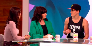 Gender capitalist Rain Dove gets love and a cheeky telling off LIVE on Loose Women