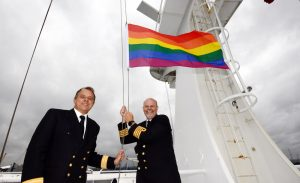 Flying the Pride flag across the north sea!