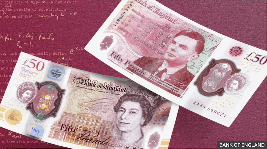 £50 note featuring gay genius Alan Turing enters circulation today.