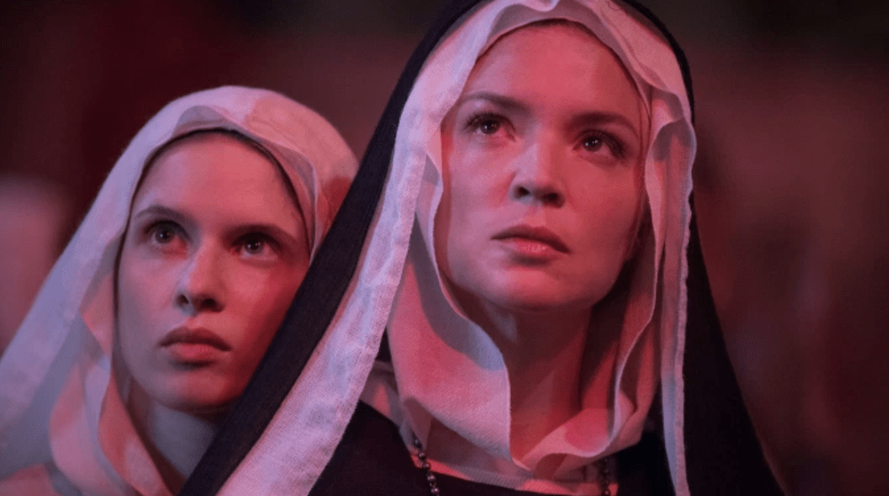 "Lesbian nun drama ""Benedetta"" prompts New York street protests."